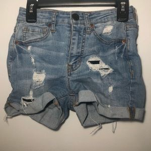 Aeropostale ripped jean shorts